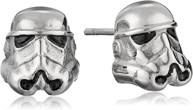 Amazon.com: Star Wars Jewelry Unisex 3D Storm Trooper Stainless Steel Stud Earrings: Jewelry