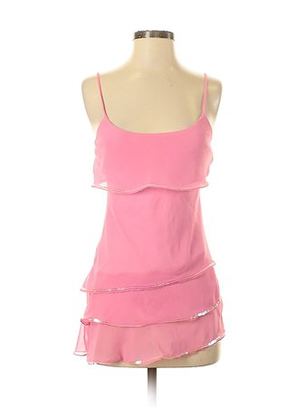 MKM Designs 100% Polyester Solid Pink Sleeveless Blouse Size S - 72% off | thredUP