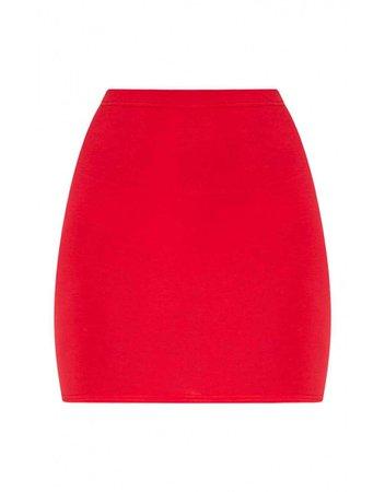 red basic skirt