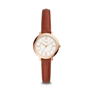Carlie Mini Three-Hand Brown Leather Watch | Fossil