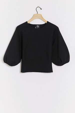 Aidy Balloon-Sleeved Pullover | Anthropologie