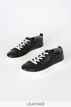 Seychelles Deviate - Black Sneakers - Genuine Leather Sneakers