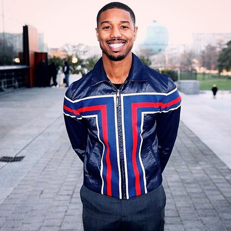 """Michael B. Jordan on Instagram: """"Thank you @LouisVuitton and @MrKimJones for having me to attend my first fashion show. 🔹🔹🔹 By @louisvuitton via @RepostWhiz app: Michael B.…"""""""