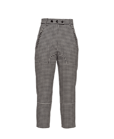 GINGHAM CHECK TWILL PANTS