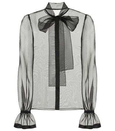 Dolce & Gabbana - Sheer silk-organza blouse | Mytheresa
