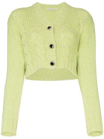 Alessandra Rich Crop Wool Knit Cardigan - Farfetch