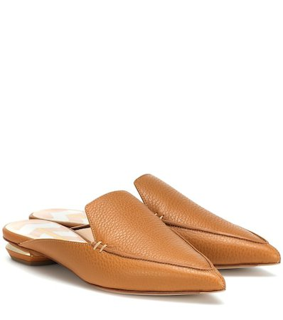 Beya leather mules