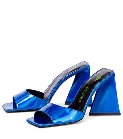 The Attico - Devon leather sandals   Mytheresa