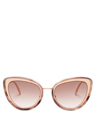 Cat-eye metal sunglasses | Alexander McQueen | MATCHESFASHION.COM US