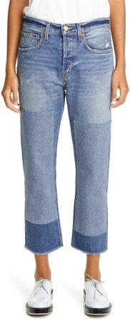 Marcel Vintage Patchwork Straight Leg Crop Jeans