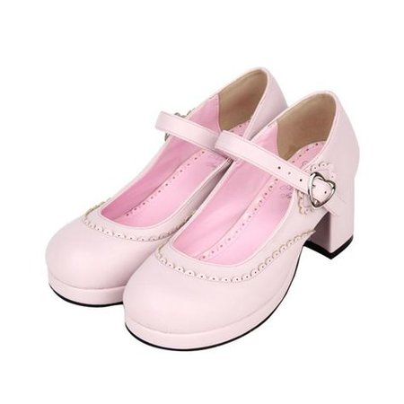 pink pastel Mary Janes shoes Lolita