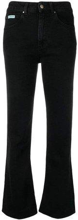 Alexa Chung high-waisted flared jeans