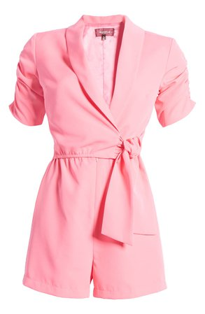 4SI3NNA Marcella Ruched Sleeve Romper | Nordstrom