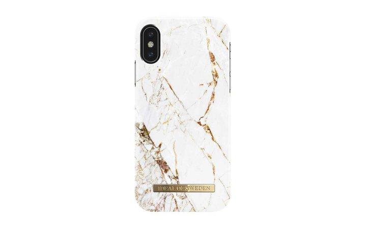 Coque iPhone X Carrara Gold - iDeal Of Sweden