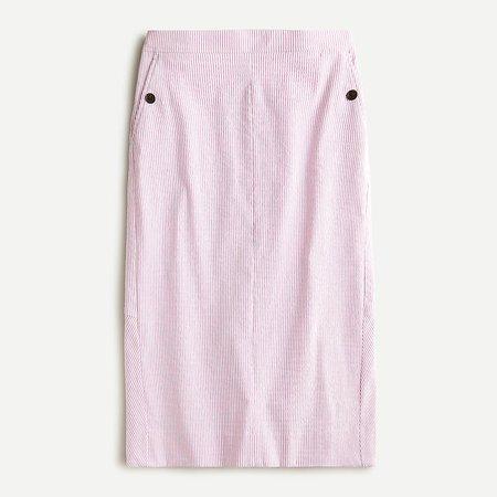 J.Crew: Pencil Skirt In Seersucker For Women