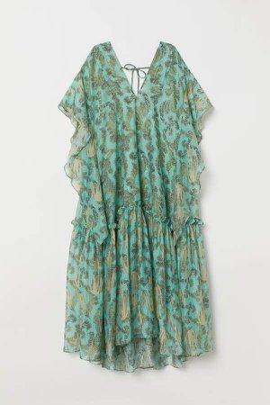 Lyocell-blend Kaftan Dress - Turquoise