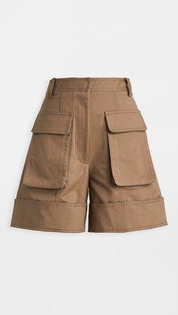 Cuffed Cargo Shorts
