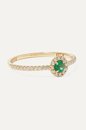 Gold 18-karat gold, emerald and diamond ring | Suzanne Kalan | NET-A-PORTER