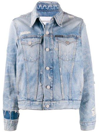 Calvin Klein Jeans Jaqueta Jeans Destroyed - Farfetch