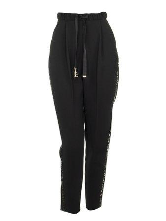 Elisabetta Franchi Celyn B. High Waist Logoed Sports Trousers