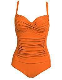 Orange one piece swimsuit