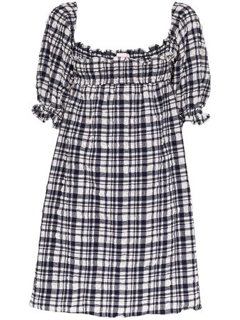 Solid & Striped Puckered Gingham Babydoll Dress - Farfetch