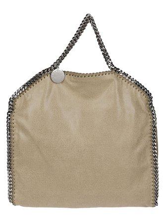 Light Khaki Faux Leather Falabella Tote Bag