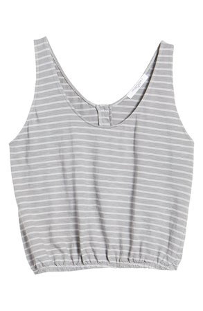 Project Social T I Wanna Be Stripe Button Back Tank | Nordstrom