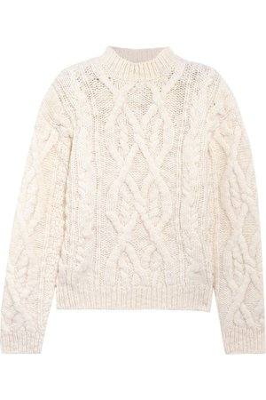 Acne Studios | Edyta cable-knit wool sweater | NET-A-PORTER.COM