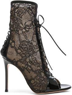 Gianvito Rossi Lace up lace boot