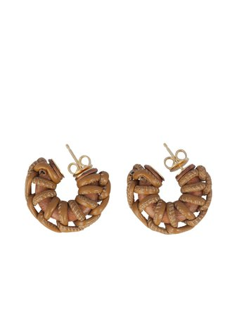 Bottega Veneta Earrings Circle Braided
