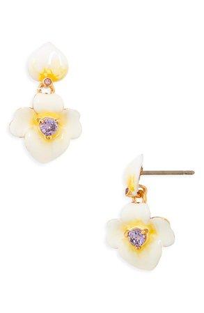 kate spade new york precious pansy drop earrings