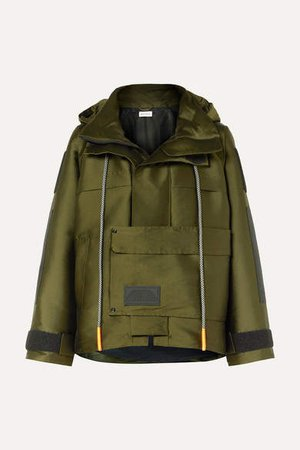 Hooded Canvas Parka - Army green