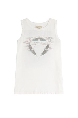 The Muscle Tee Printed Cotton Tank Gr. 2