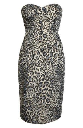 J.Crew Strapless Metallic Leopard Spot Party Dress | Nordstrom