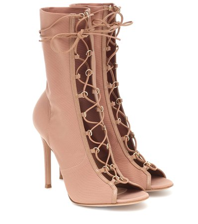 Gianvito Rossi - Stevie lace-up ankle boots | Mytheresa