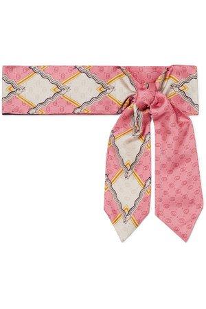 Gucci | Intarsia silk-twill scarf | NET-A-PORTER.COM