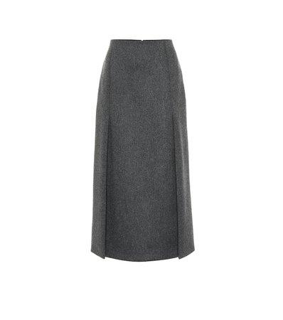 Prada - Virgin wool midi skirt | Mytheresa
