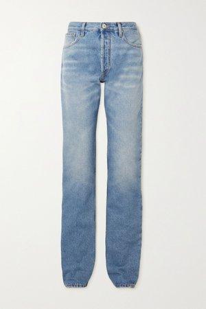Blue High-rise straight-leg jeans | The Attico | NET-A-PORTER