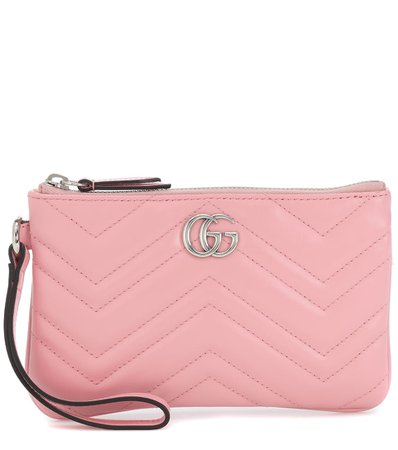 Gucci - GG Marmont Small leather wrist wallet | Mytheresa