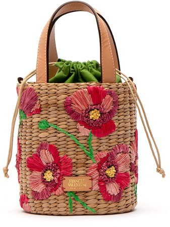 Small Embroidered Bucket Bag