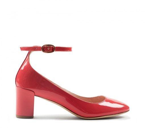 Repetto Electra Mary-Jane Patent leather Campari pink