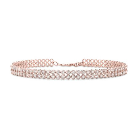 Rose Gold Diamond Choker Necklace