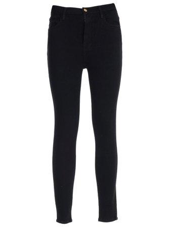 Frame Frame Jeans Skinny Elastic High Waist - Noir - 10962576 | italist
