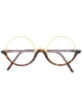 Gianfranco Ferré Pre-Owned 1990s Round Frame Glasses - Farfetch