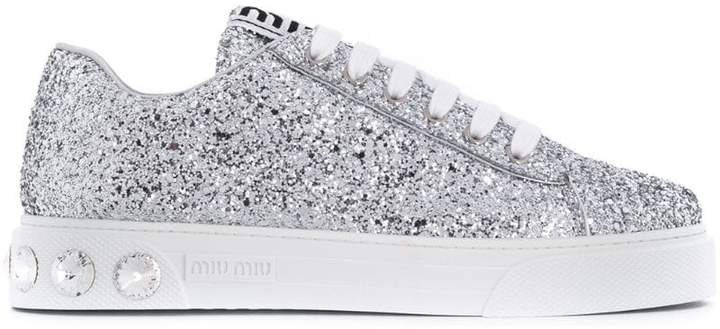 glitter fabric sneakers