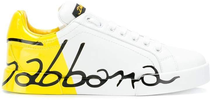 Varnished Logo Sneakers