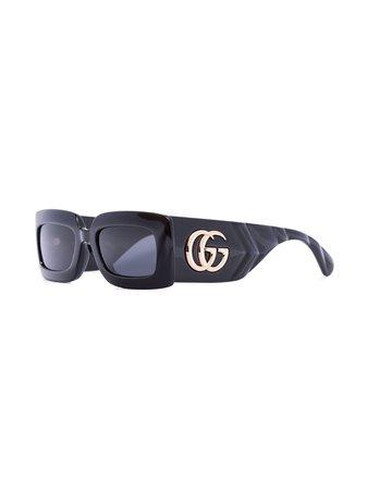 Gucci Eyewear rectangle-frame sunglasses - FARFETCH