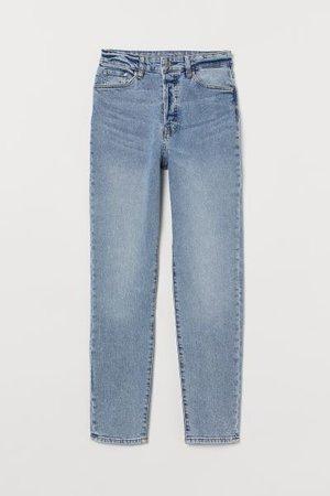Mom High Ankle Jeans - Light denim blue/washed - Ladies | H&M US
