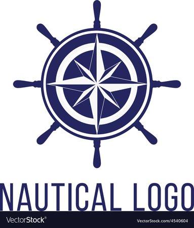 Nautical logo template Royalty Free Vector Image